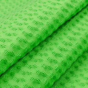 Вафельное полотно гладкокрашенное 150 см 240 гр/м2 7х7 мм премиум цвет 031 ярко-зеленый