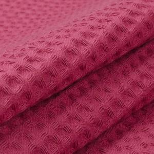 Вафельное полотно гладкокрашенное 150 см 240 гр/м2 7х7 мм премиум цвет 789-3 брусничный