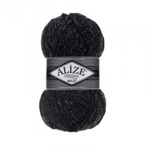 Пряжа ALIZE SUPERLANA MAXI 800-антрацитовый жаспе (25% шерсть 75% акрил)