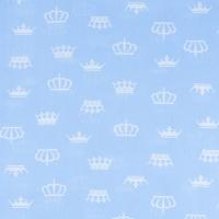 Ткань на отрез бязь плательная 150 см 1694/3 цвет голубой