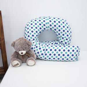 Наволочка поплин на подушку для беременных U-образная 1718/1 цвет мята-василек