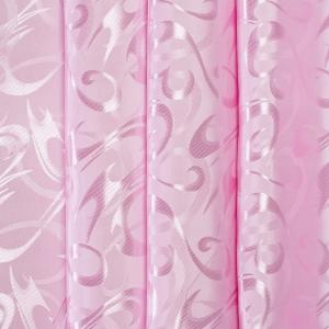 Портьерная ткань 150 см на отрез 14 цвет розовый