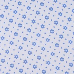 Ткань на отрез фланель 80 см 18052 Ромашки цвет голубой