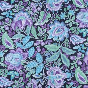 Ткань на отрез фланель 80 см 10720 Цветочная симфония