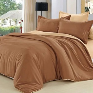 Полисатин гладкокрашеный 220 см 17-1520 цвет коричневый