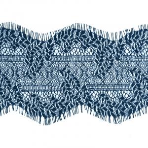 Кружево реснички 11см J038 синий упаковка 3 м