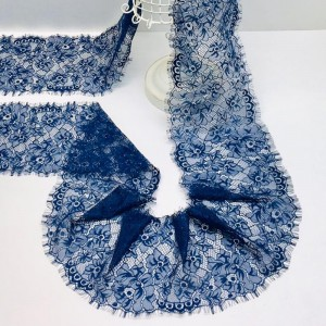Кружево реснички 14см ХJ034 синий упаковка 3 м