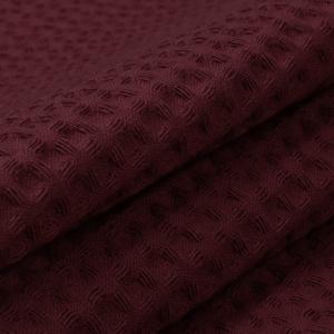 Ткань на отрез вафельное полотно гладкокрашенное 150 см 240 гр/м2 7х7 мм цвет винный