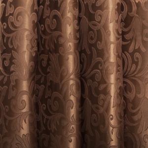 Портьерная ткань 150 см 5 цвет шоколад вензель