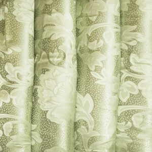Портьерная ткань 150 см 6 цвет зеленый ветка