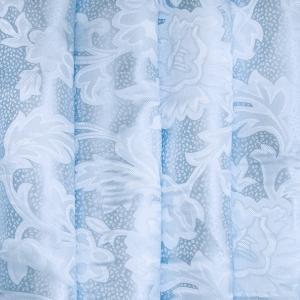 Портьерная ткань 150 см 17 цвет голубой ветка