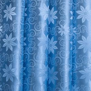 Портьерная ткань 150 см 68 цвет голубой цветы