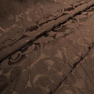Ткань на отрез портьера жаккард 901/26 цвет шоколад