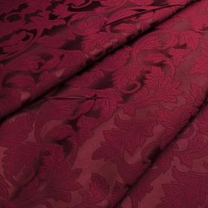 Ткань на отрез портьера жаккард 901/21 цвет вишня