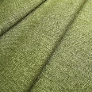 Ткань на отрез Blackout лен 91/20 цвет зеленый