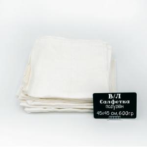 Весовой лоскут Салфетка полулен отбеленный рисунок 0,45 / 0,45 м по 0,600 кг