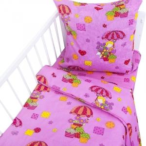 Постельное белье в детскую кроватку Бязь 100 гр/м2 2