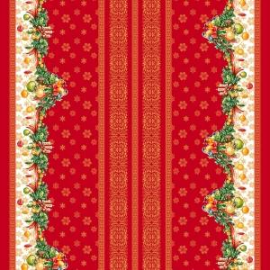 Ткань на отрез рогожка 150 см 11117/1 Рождество