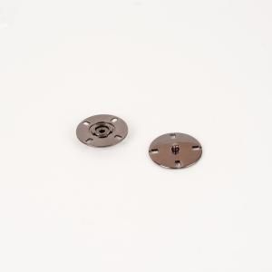Кнопка металлическая черный никель КМД-3 №28 уп 10 шт