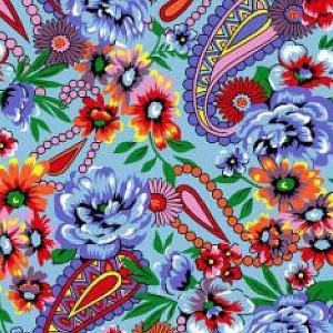 Ткань на отрез бязь плательная 150 см 1011/1 цвет голубой
