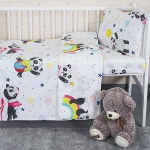 Постельное белье в детскую кроватку из перкаля 13092/1