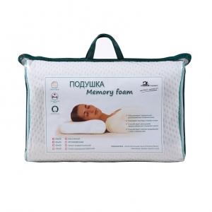 Подушка Memory foam эргономичная чехол п/э (трикотаж/сетка)  60/40/13 цвет шампань