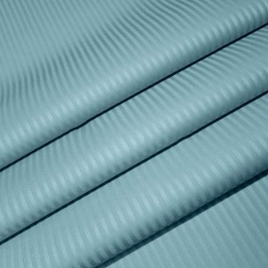 Ткань на отрез Страйп сатин полоса 0,3х0,3 см 240 см 135 гр/м2 KL-4(506)  цвет мята