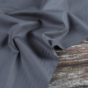 Ткань на отрез сатин гладкокрашеный 245 см 213KL-703 цвет темно-серый