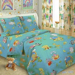 Бязь 100 гр/м2 150 см ТР 1517/2 цвет голубой