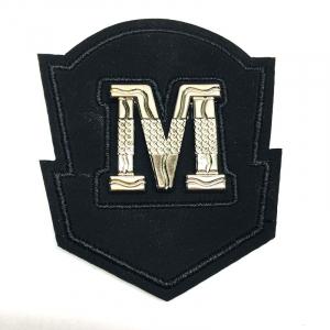 Нашивка  М декор черный  никель 6,5*5,5см 1946