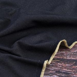 Ткань на отрез джинса двусторонняя 320 г/м2 стрейч AT0268 цвет черный