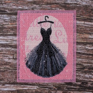Декоративный  элемент пришивной Платье 18*22,5 см