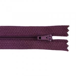 Молния пласт юбочная №3 20 см цвет т-бордовый