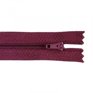Молния пласт юбочная №3 20 см цвет бордовый