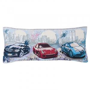 Чехол на подушку-валик гобелен 30/85 см Машины
