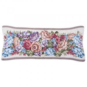 Чехол на подушку-валик гобелен 30/85 см Розы на светлом 2407