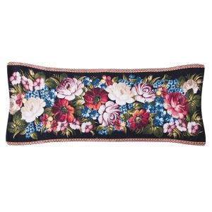 Чехол на подушку-валик гобелен 30/85 см Жестовские цветы 2331