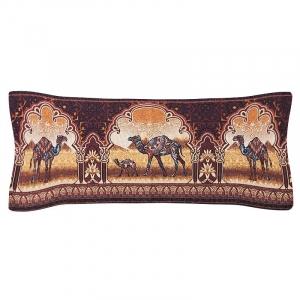 Чехол на подушку-валик гобелен 30/85 см Верблюды 2393