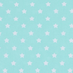 Поплин 150 см 390/16 Звездочки цвет мята