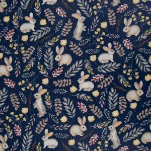 Ткань на отрез бязь плательная 150 см 2173/1 Любопытный зайка
