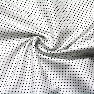 Ткань на отрез поплин 150 см 388А/25 Горошек цвет черный
