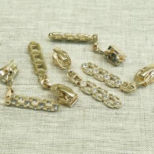 Бегунок спираль №7 С7-003 золото стразы