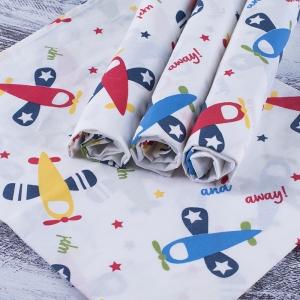 Набор детских пеленок поплин 4 шт 73/120 см 2014