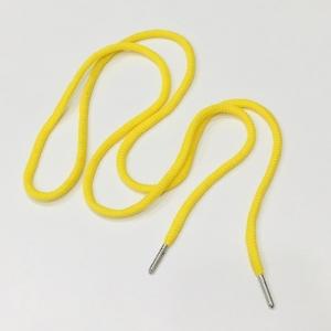 Шнур круглый 130см желтый металл наконечник уп 2 шт