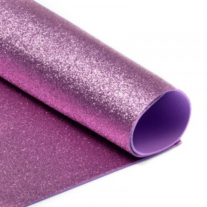Фоамиран глиттерный 2 мм 20/30 см уп 10 шт MG.GLIT.H003 цвет розовый