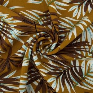 Ткань на отрез штапель Melissa D070 цвет коричневый