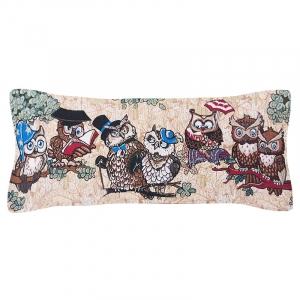 Чехол на подушку-валик гобелен 30/85 см Совята