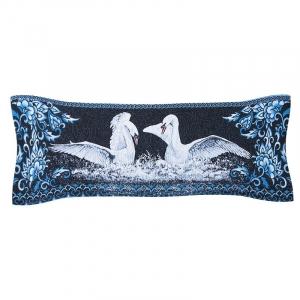 Чехол на подушку-валик гобелен 30/85 см Лебеди