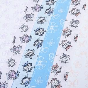 Набор отрезов ткани Поплин 50/50 +/- 5 см 6 шт 316