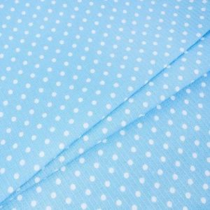 Вафельное полотно набивное 150 см 1171/1 Горох цвет голубой